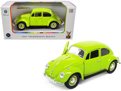 1967 Volkswagen Beetle Light Green 1/24 Diecast Model Car by Road Signature