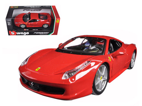 Ferrari 458 Italia Red 1/24 Diecast Model Car by Bburago