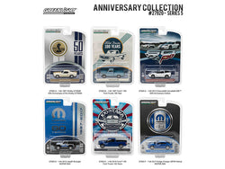 """Anniversary Collection - 50 years Shelby / Corvette Z06 60 years / Ford Trucks 100 Years /  MOPAR 80 years) Series #5 (6 Vehicle Set) 1/64 Diecast Models by Greenlight"