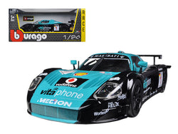 Maserati MC 12 #1 Blue/Black 1/24 Diecast Model Car by Bburago