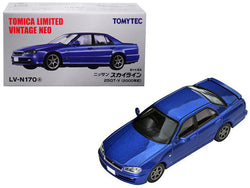 2000 Nissan Skyline 25GT-V RHD (Right Hand Drive) Metallic Blue 1/64 Diecast Model Car by TomyTec