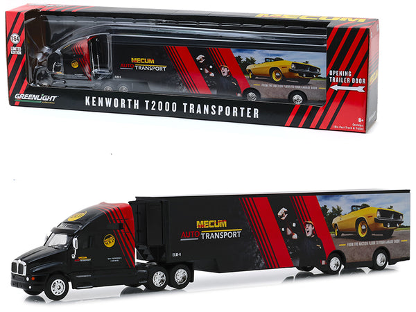 "Kenworth T2000 Mecum Auto Transport Transporter ""From the Auction Floor to Your Garage Door"" - ""Hobby Exclusive"" 1/64 Diecast Model by Greenlight"