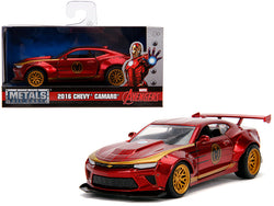 "2016 Chevrolet Camaro ""Iron Man"" Theme ""Marvel"" Series 1/32 Diecast Model Car by Jada"