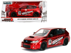 "2012 Subaru Impreza WRX STI Red ""JDM Tuners"" 1/24 Diecast Model Car by Jada"