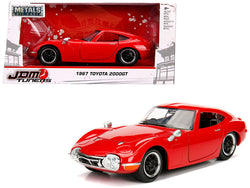 "1967 Toyota 2000GT Coupe Red ""JDM Tuners"" 1/24 Diecast Model Car by Jada"