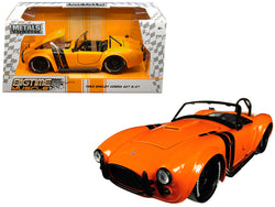 "1965 Shelby Cobra 427 S/C Orange with Black Stripes ""Bigtime Muscle"" 1/24 Diecast Model Car by Jada"
