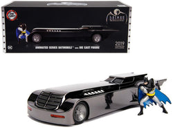 "Chrome Batmobile with Batman Diecast Figure ""Animated Series"" DC Comics ""2019 San Diego Comic Con Exclusive"" Limited Edition 1/24 Diecast Model Car by Jada"