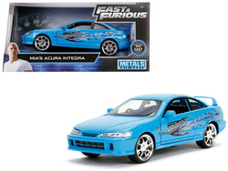 "Mia's Acura Integra RHD (Right Hand Drive) Blue ""The Fast and the Furious"" Movie 1/24 Diecast Model Car by Jada"