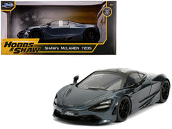 "Shaw's McLaren 720S RHD (Right Hand Drive) Metallic Gray ""Fast & Furious Presents: Hobbs & Shaw"" (2019) Movie 1/24 Diecast Model Car by Jada"