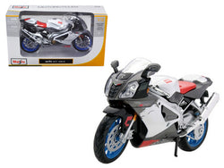 Aprilia RSV 1000 White Motorcycle 1/12 Diecast Motorcycle Model by Maisto