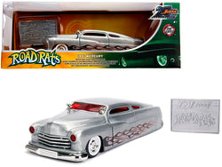 "1951 Mercury Raw Metal with Flames ""Road Rats"" - ""Jada 20th Anniversary"" 1/24 Diecast Model Car by Jada"