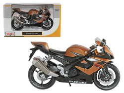 Suzuki GSX R1000 Bronze Motorcycle 1/12 Diecast Motorcycle Model by Maisto