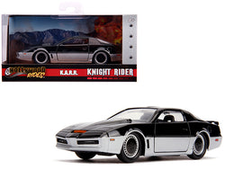 "K.A.R.R. Black and Silver ""Knight Rider"" (1982) TV Series ""Hollywood Rides"" Series 1/32 Diecast Model Car by Jada"
