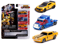 """Transformers"" (3 Piece Set) ""Nano Hollywood Rides"" Series #1 Diecast Models by Jada"