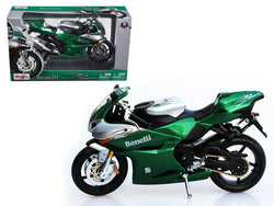 Benelli Tornado Tre 1130 Green/Silver 1/12 Diecast Motorcycle Model by Maisto