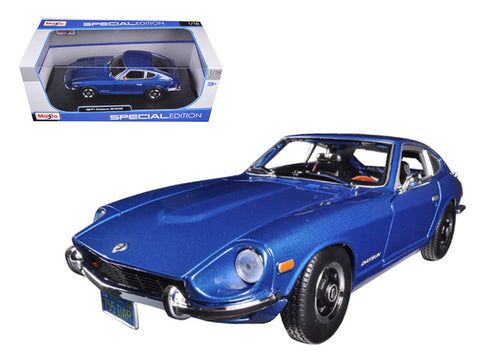 1971 Datsun 240Z Blue Metallic 1/18 Diecast Model Car by Maisto