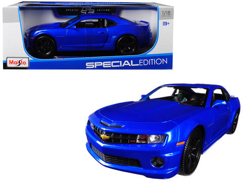 2010 Chevrolet Camaro RS SS Light Blue with Black Wheels 1/18 Diecast Model Car by Maisto
