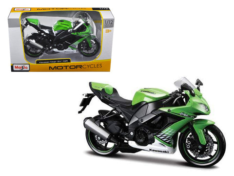2010 Kawasaki Ninja ZX-10R Green Bike 1/12 Diecast Motorcycle Model by Maisto