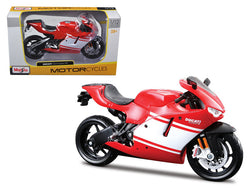 Ducati Desmosedici RR Red/White 1/12 Diecast Motorcycle Model by Maisto