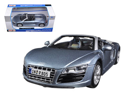2011 Audi R8 Spyder Blue 1/24 Diecast Model Car by Maisto