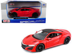 2018 Acura NSX Red with Black Top 1/24 Diecast Model Car by Maisto