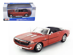1968 Chevrolet Camaro SS 396 Convertible Bronze 1/24 Diecast Model Car by Maisto