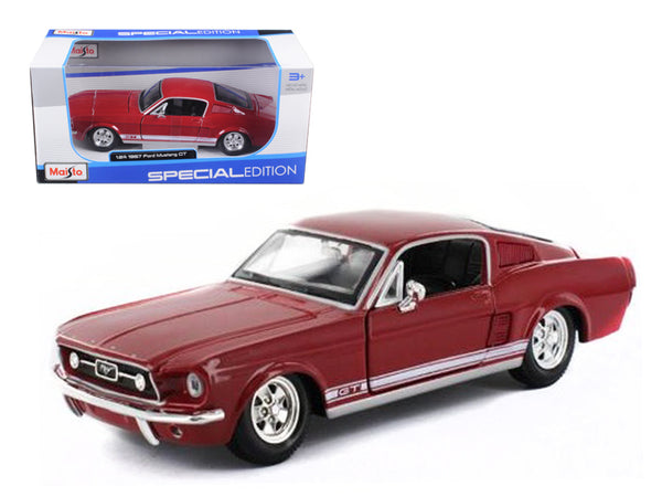 1967 Ford Mustang GT Red 1/24 Diecast Model Car by Maisto