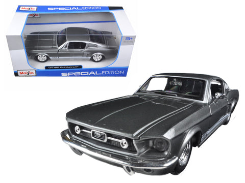 1967 Ford Mustang GT Grey 1/24 Diecast Model Car by Maisto