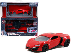 "Lykan Hypersport Red with Black Wheels ""Fast & Furious"" Movie ""Build N' Collect"" Model Kit 1/55 Diecast Model Car by Jada"