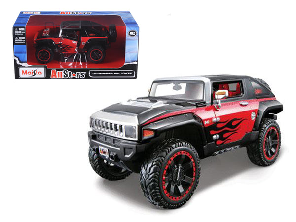 "2008 Hummer HX Concept Black/Red ""All Stars"" 1/24 Diecast Model Car by Maisto"