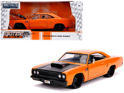 "1970 Plymouth Road Runner Orange with Black Hood ""Bigtime Muscle"" 1/24 Diecast Model Car by Jada"