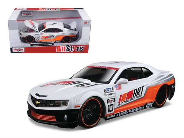"2010 Chevrolet Camaro RS SS ""All Stars"" White 1/24 Diecast Model Car by Maisto"