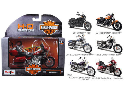 Harley Davidson (6 Piece Motorcycle Set) Series #34 1/18 Diecast Motorcycle Models by Maisto
