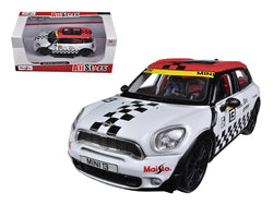 Mini Cooper Coutryman White #13 1/24 Diecast Model Car by Maisto