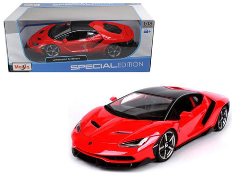 Lamborghini Centenario Red 1/18 Diecast Model Car by Maisto