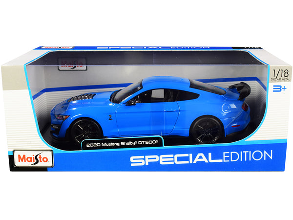 "2020 Ford Mustang Shelby GT500 Light Blue ""Special Edition"" 1/18 Diecast Model Car by Maisto"