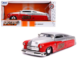 "1951 Mercury Silver and Red #626 ""Holley"" ""Bomber Bros Special"" ""Bigtime Muscle"" 1/24 Diecast Model Car by Jada"