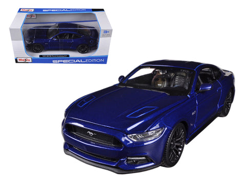 2015 Ford Mustang GT 5.0 Blue 1/24 Diecast Model Car by Maisto