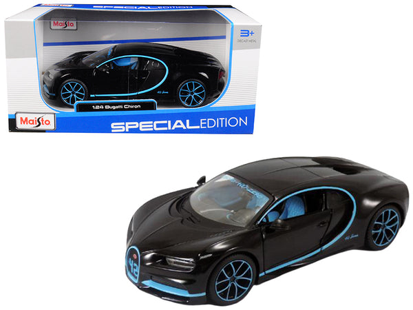 Bugatti Chiron 42 Black Limited Edition 1/24 Diecast Model Car by Maisto