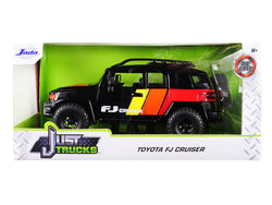 "Toyota FJ Cruiser Custom with Roof Rack Black ""Just Trucks"" 1/24 Diecast Model by Jada"