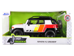 "Toyota FJ Cruiser Custom with Roof Rack White ""Just Trucks"" 1/24 Diecast Model by Jada"