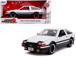 "1986 Toyota Trueno (AE86) RHD (Right Hand Drive) White and Black ""JDM Tuners"" 1/24 Diecast Model Car by Jada"