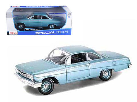 1962 Chevrolet Bel Air Turquoise HT 1/18 Diecast Model Car by Maisto
