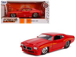 "1971 Pontiac GTO Judge Glossy Red ""Bigtime Muscle"" 1/24 Diecast Model Car by Jada"