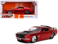 "1970 Ford Mustang Boss 429 Candy Red with Black Hood ""Bigtime Muscle"" 1/24 Diecast Model Car by Jada"