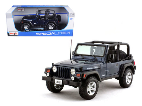 Jeep Wrangler Rubicon Deep Blue 1/18 Diecast Model Car by Maisto