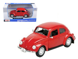 1973 Volkswagen Beetle Red 1/24 Diecast Model Car by Maisto