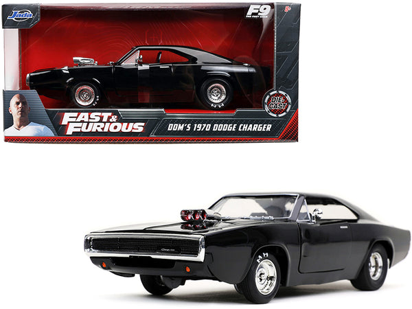 "Dom's 1970 Dodge Charger 500 Black ""Fast & Furious F9"" (2021) Movie 1/24 Diecast Model Car by Jada"