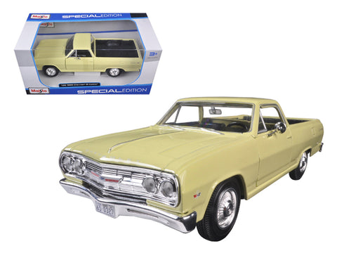 1965 Chevrolet El Camino Yellow 1/25 Diecast Model Car by Maisto