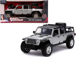 "2020 Jeep Gladiator Pickup Truck Silver with Black Top ""Fast & Furious"" Series 1/24 Diecast Model Car by Jada"